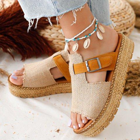 Summer Button Slippers