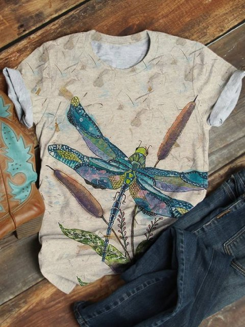 Multicolor Cotton-Blend Floral-Print Animal Casual Shirts & Tops