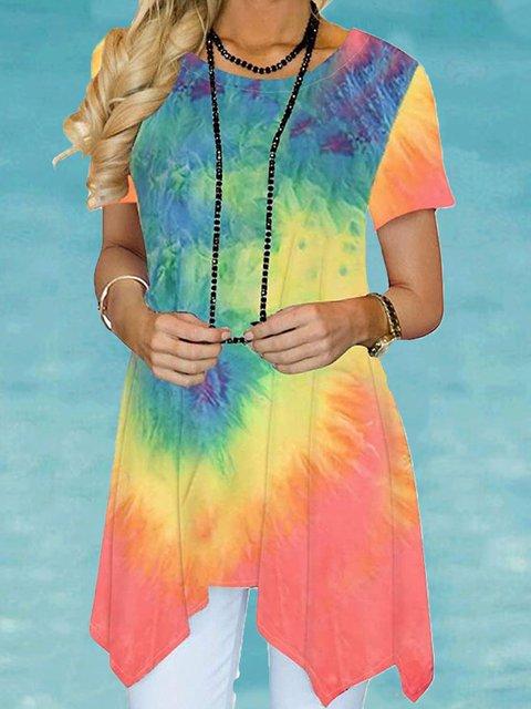 Casual Cotton-Blend Short Sleeve Dresses