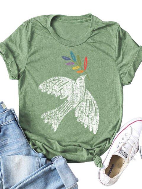 Casual Printed Short Sleeve Shirts & Tops
