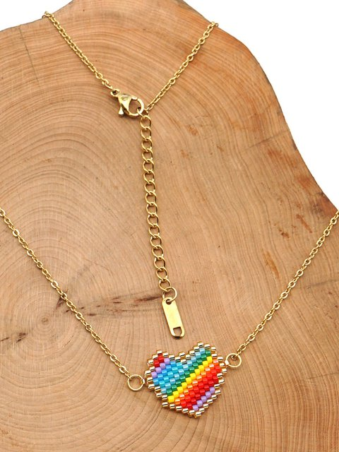 rainbow Alloy Casual Necklaces