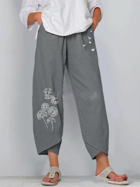 Asymmetrical Casual Pants