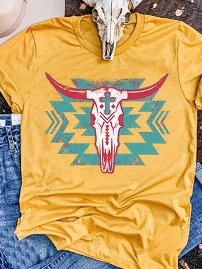 Yellow Shift Cotton Casual Shirts & Tops