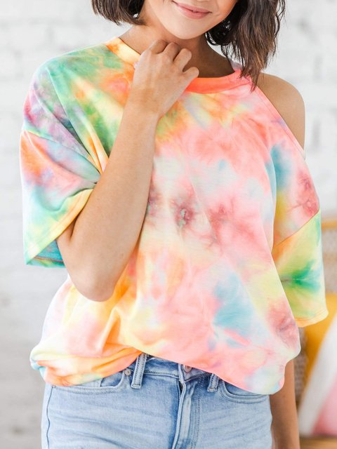 Casual Tie Dye French Terry T-shirts