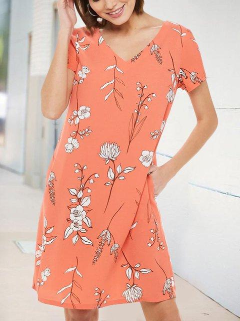 Floral Shift Casual Dresses
