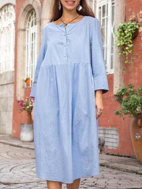 Women Daily Plain Casual Dresses