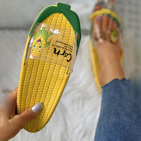 Corn Cartoon Waterproof Slippers