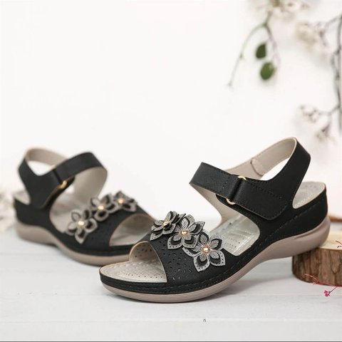 Flower Summer Pu Sandals