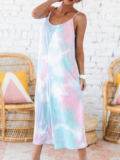 Casual Sling Tie Dye Jumpsuit