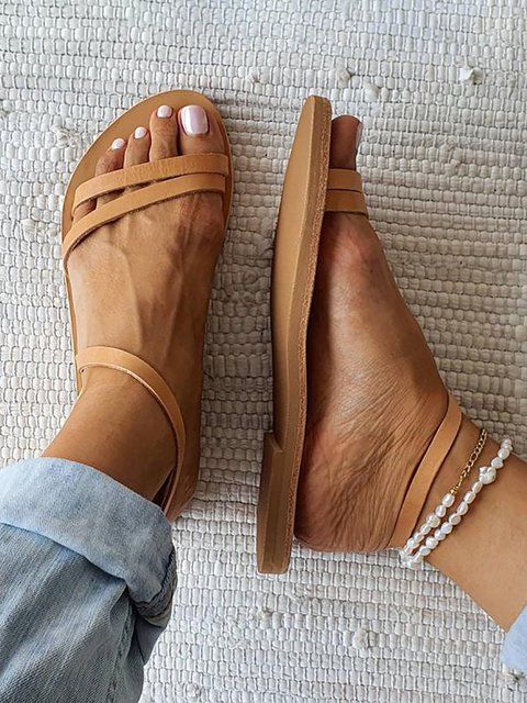 Summer Pu Holiday Sandals