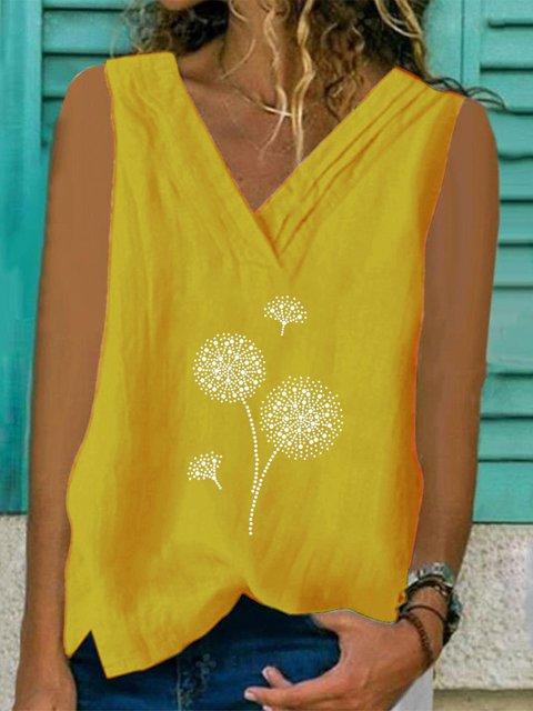 Printed Floral Sleeveless Shirts & Tops