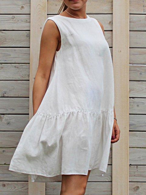 Summer Sleeveless Loose Solid Dress