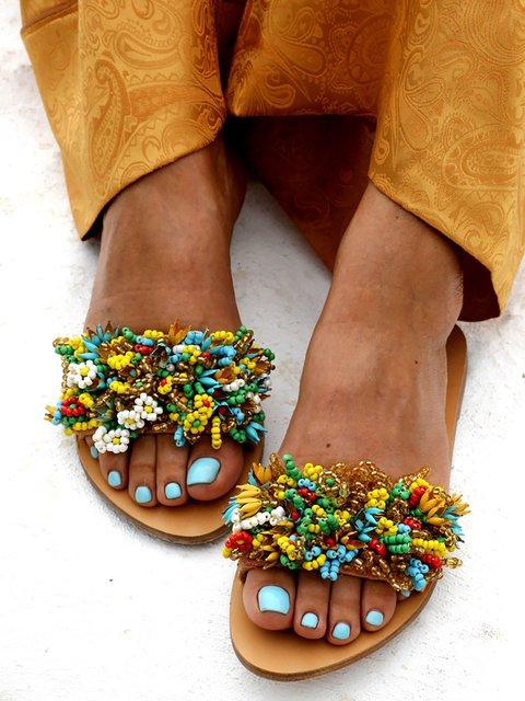 Beach Summer Flat Heel Sandals