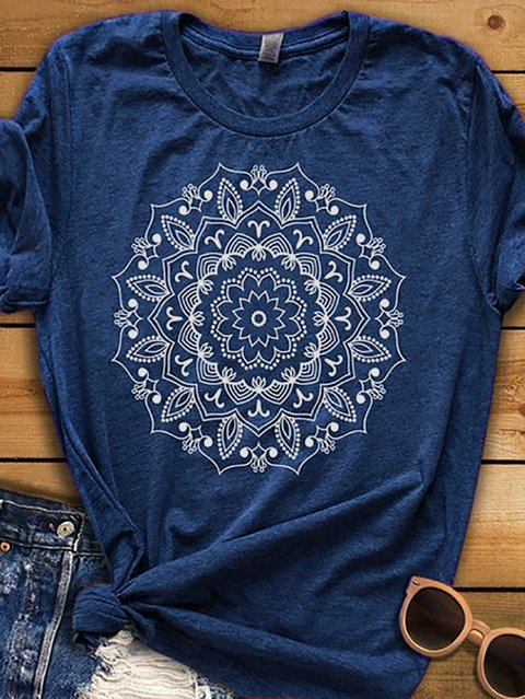 Blue Casual Short Sleeve Shirts & Tops