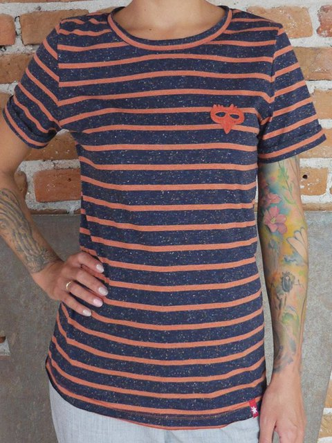 Striped Creative Pattern Short Sleeve T-shirt