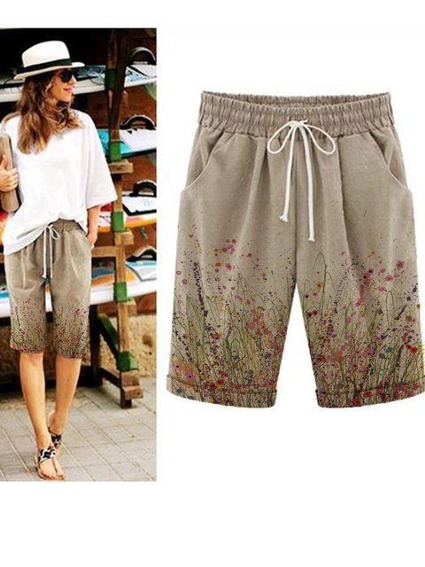Floral Holiday Pants