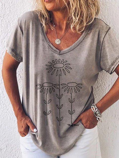 Casual print T-shirt