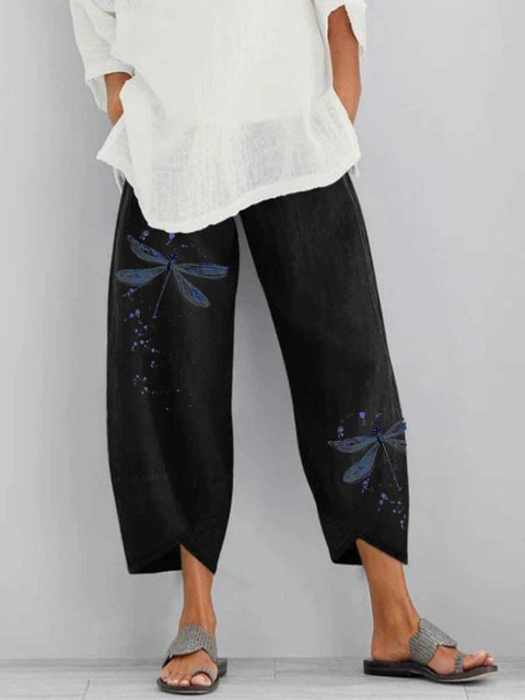 Graphic Casual Linen Pants