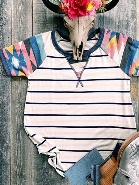 White Short Sleeve Shift Shirts & Tops