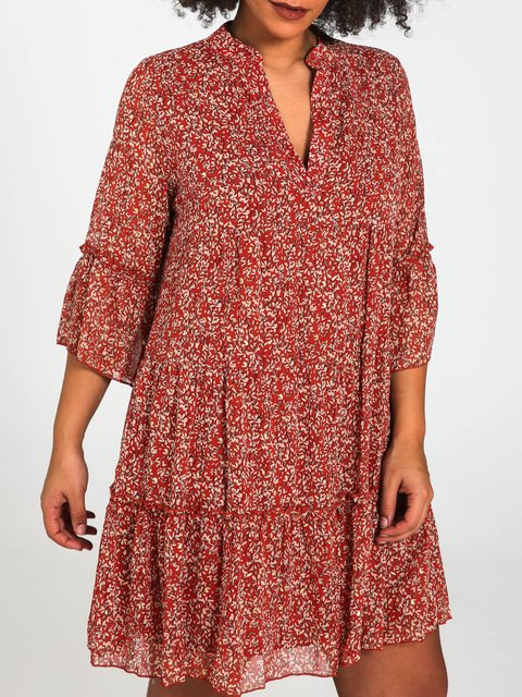 Casual Shift V Neck Dresses