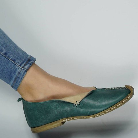 Flat Heel Leather Flats