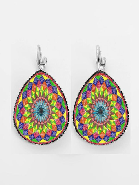 Casual All Season Round Alloy Jewelry Vintage Earrings