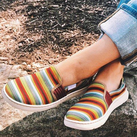 Color Block Canvas Sneakers