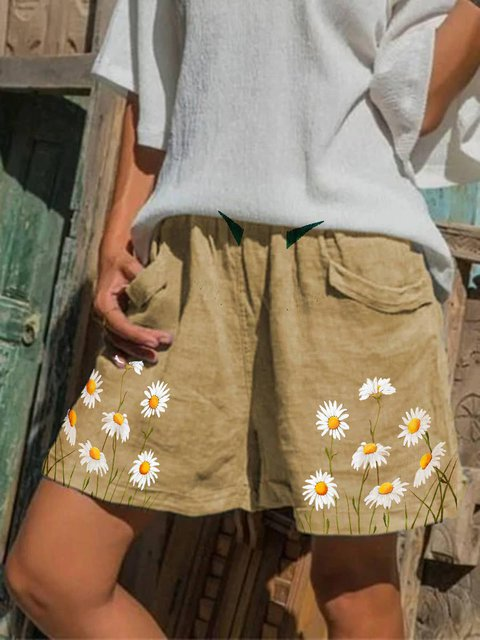 Floral Pockets Holiday Pants