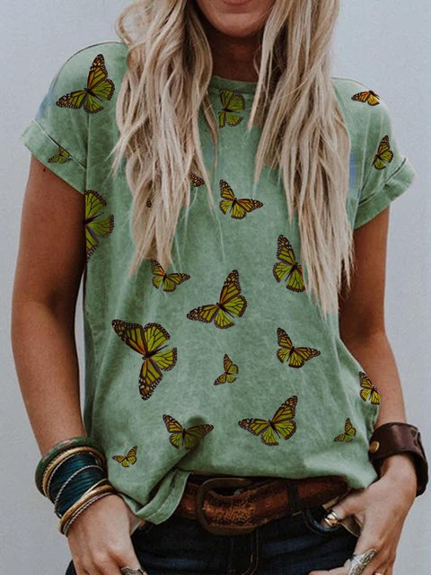 Animal Printed Cotton-Blend Shirts & Tops
