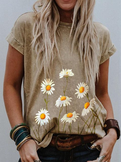 Floral Short Sleeve Shirts & Tops