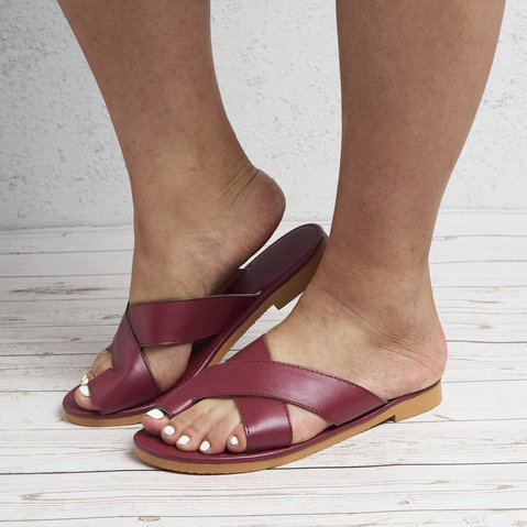 Leatherette Slippers