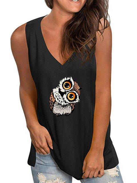 Printed Sleeveless Casual Shirts & Tops