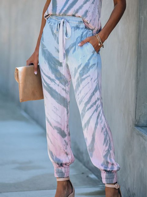 Multicolor Printed/dyed Pants