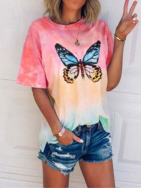 Butterfly Multicolor Gradient Sweet T-shirt