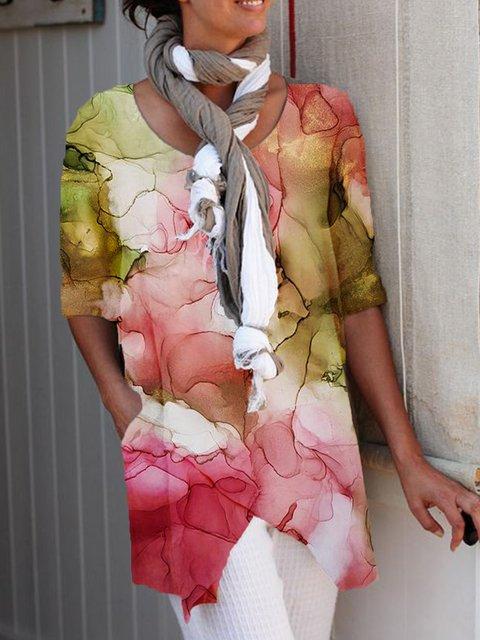 Dip-Dyed Cotton-Blend Vintage Shirts & Tops