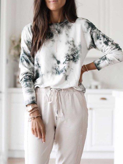 Gray Cotton-Blend Long Sleeve Shirts & Tops