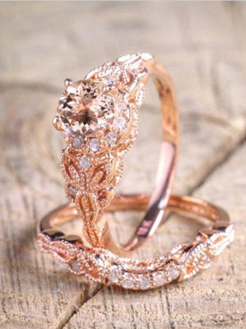 Rose Gold Alloy Vintage Rings