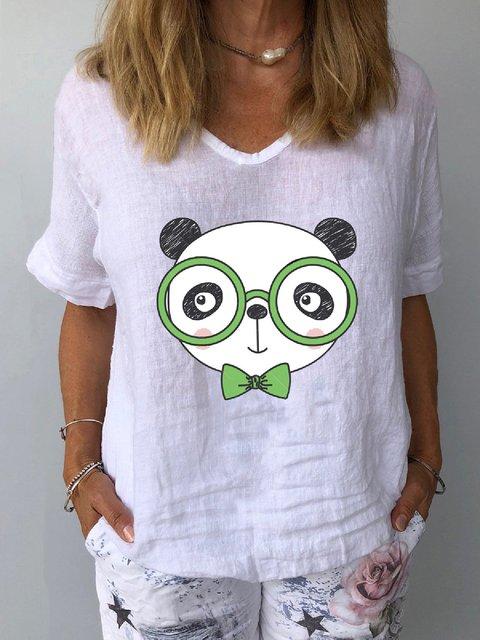 Animal Casual Short Sleeve Shirts & Tops