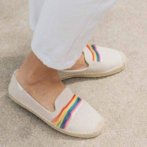 Apricot Color Block Flat Heel Casual All Season Canvas Sneakers