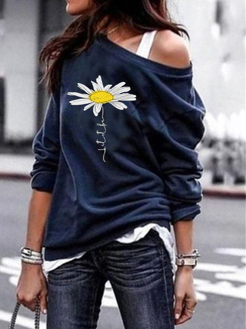 Long Sleeve Printed Casual Shirts & Tops