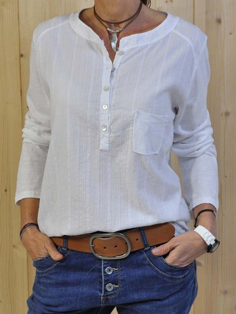 Long Sleeve Casual Stand Collar Shirts
