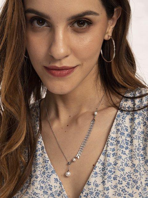 Silver Alloy Elegant Necklaces