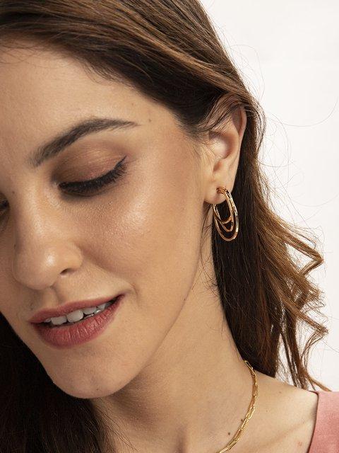 Golden Sexy Alloy Plain Earrings