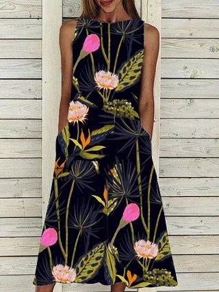 Black Sleeveless Boho Dresses