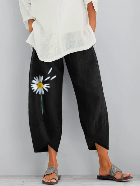 Holiday  Floral Pants