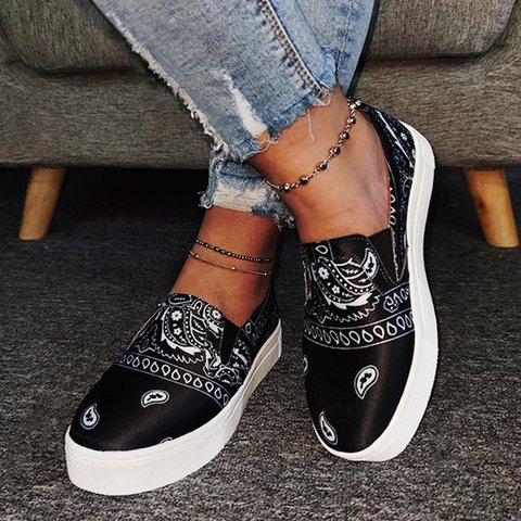 Satin All Season Flat Heel Sneakers