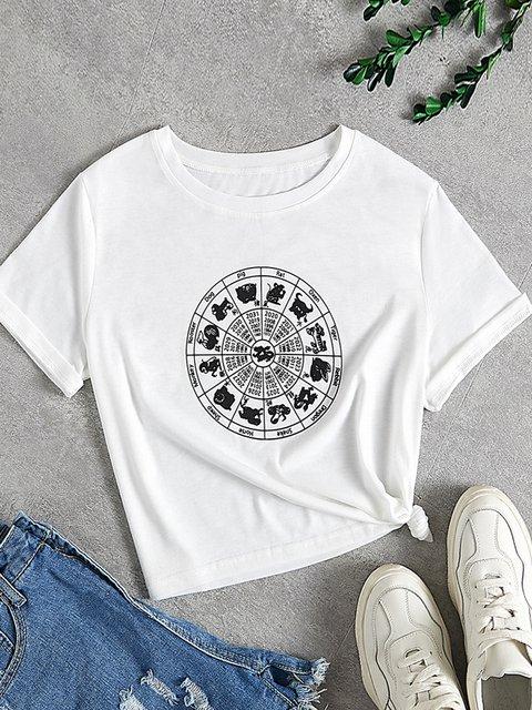 White Short Sleeve Crew Neck Shirts & Tops