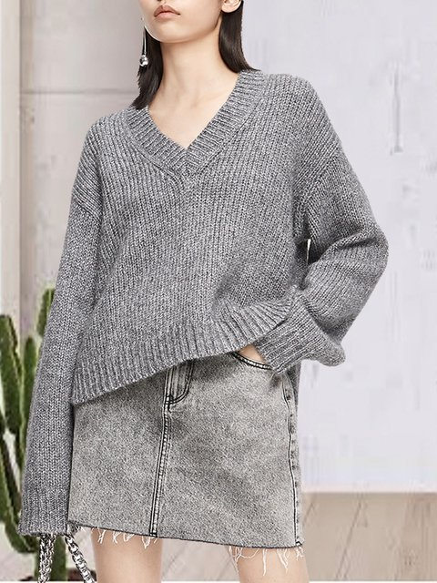 Sexy V-neck sweater