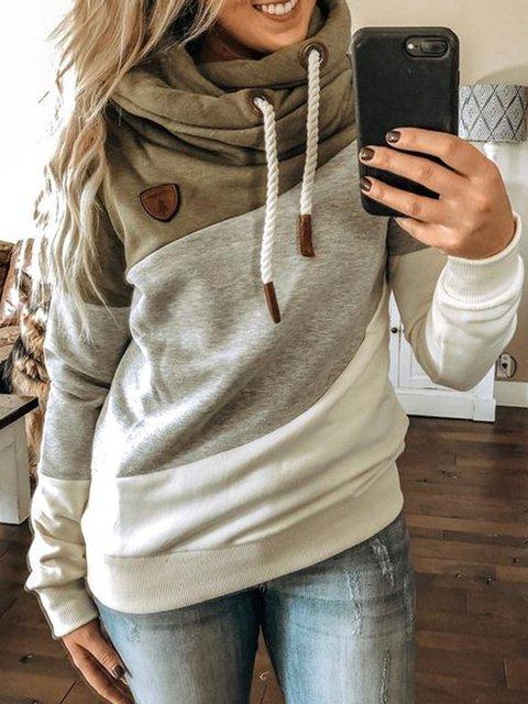 Multicolor Long Sleeve Hoodie Sweatshirt