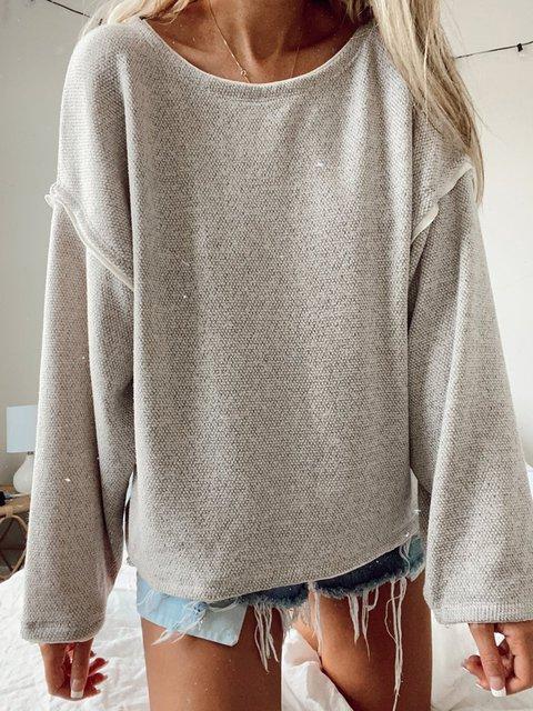 Apricot Long Sleeve Plain Shirts & Tops